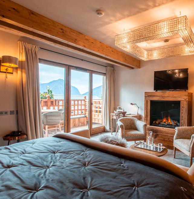 chambre hôtel vaujany suite